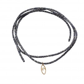 IRIS Crescent moon bracelet on cord