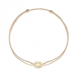 Bracelet on cord IRIS mother of pearl (child size)