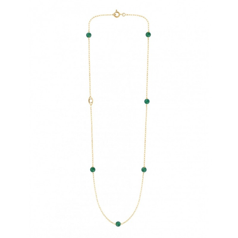 MASSILIA Green Agate necklace