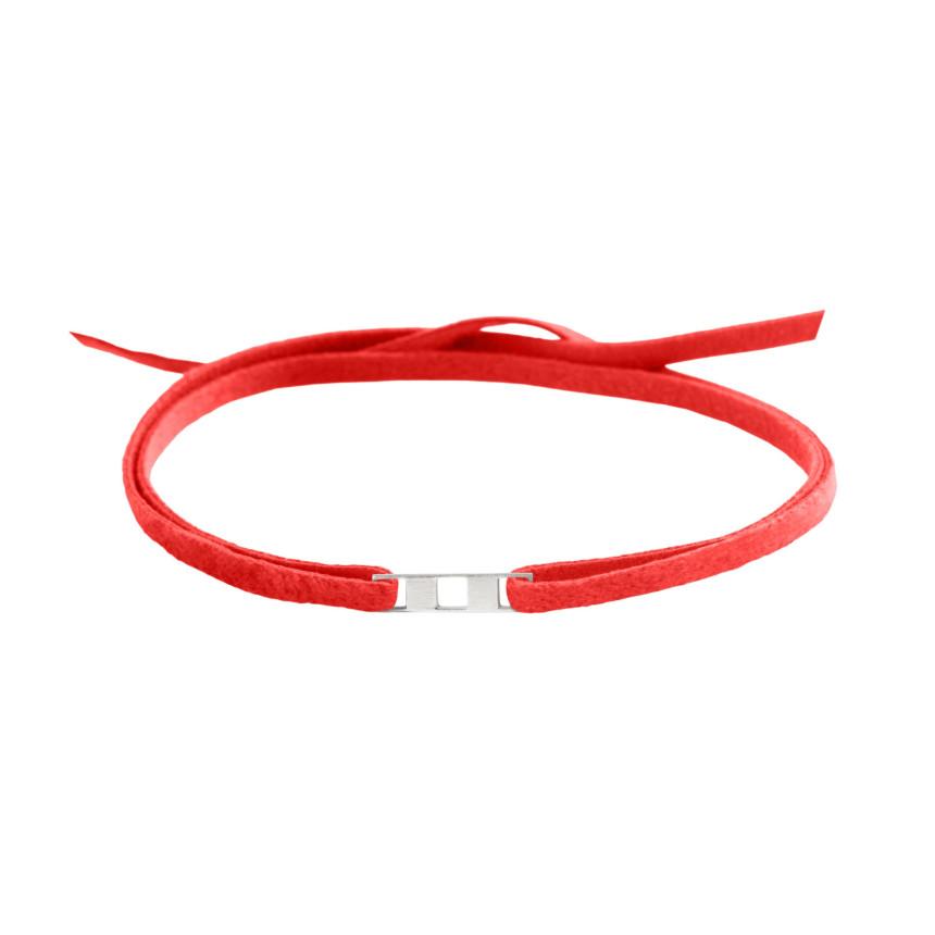 Bracelet DAMIER 1 rang OB sur cordon