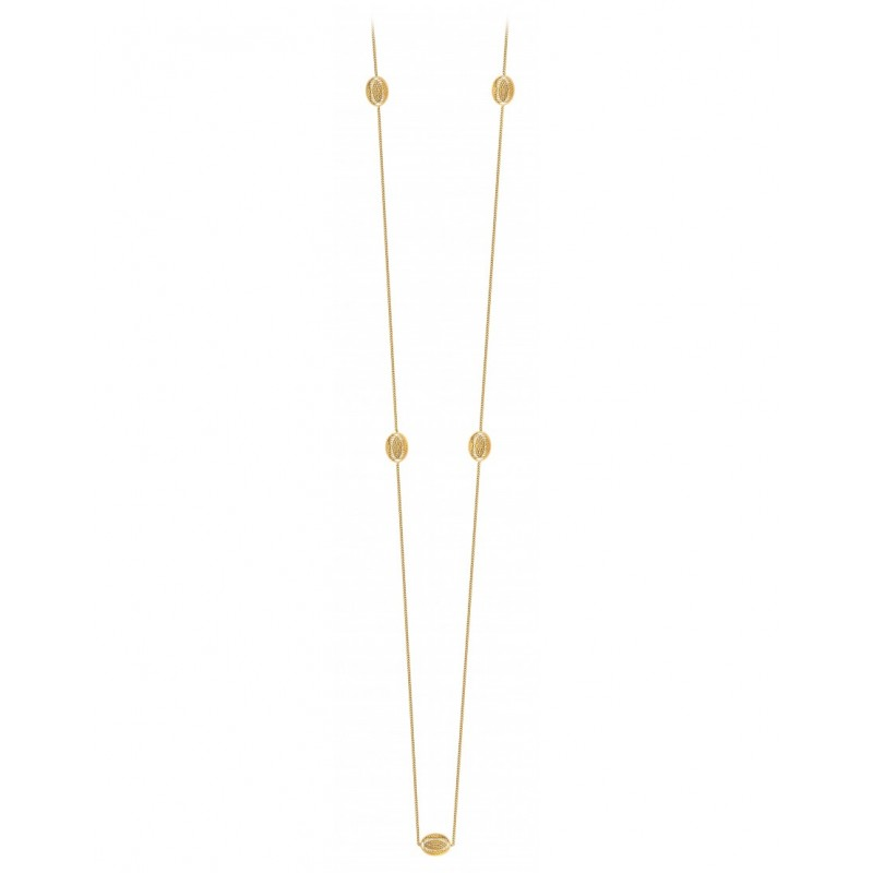 AURA multi-medals long necklace