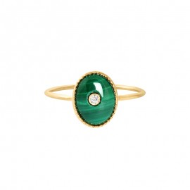 Bague TALISMAN Malachite