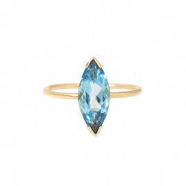 GABY Blue London Topaz ring (large model)