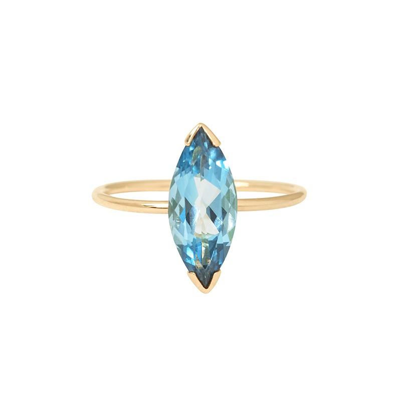 GABY Blue London Topaz ring (large model)