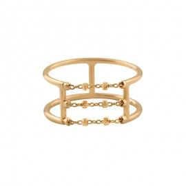 DIAMANTÉE double body 3 chains ring