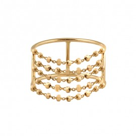 DIAMANTÉE double body 5 chains ring