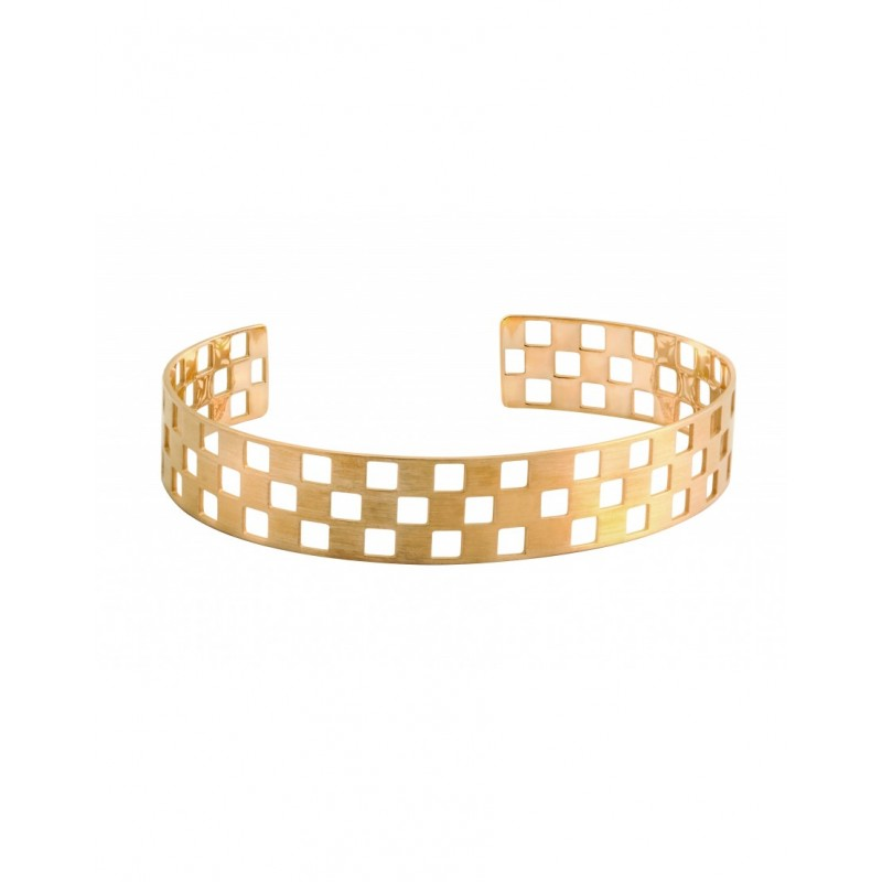 DAMIER yellow gold 3 rows bangle