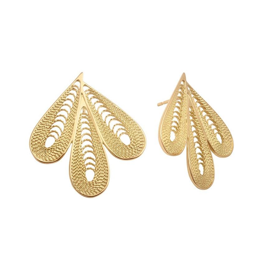 EDEN 3 petals earrings (the pair)